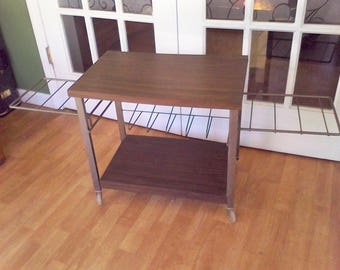 Record holder, Lp, vinyl, record player table, 45's, Wire Record Rack, Mid Century, Record Stand,