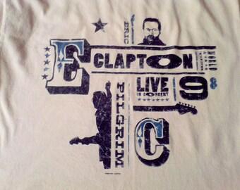 Eric Clapton Tee Shirt Size Large, Concert Tee Shirt 1998 World tour