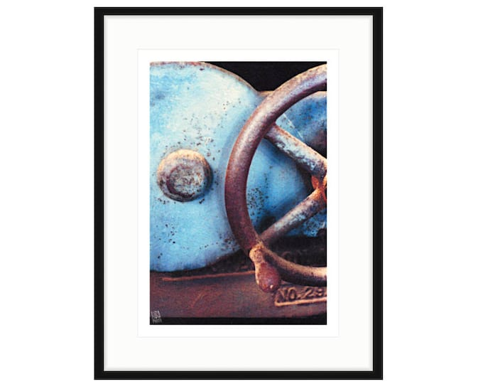 Shipyard Archeology, No. 29, framed print by Liza Cowan. Two sizes, two frame options. Free Shipping.