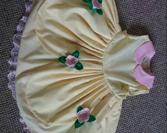 Girls Handmade Belle, Beauty and the Beast inspired dress,age 3 months to 8 years