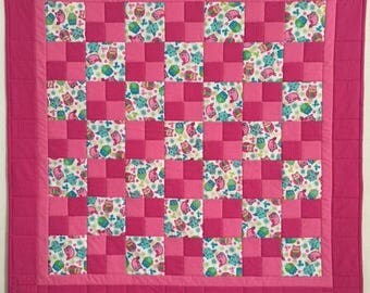 Baby Quilts, Baby girl quilt, Baby quilts handmade, Baby shower quilt, Modern baby quilt, Pink baby quilt, Baby blanket, Crib quilt, Quilts