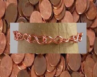 Copper chain bracelet