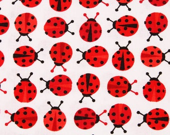 Ladybug Patterned Fabric Ann Kelle for Robert Kaufman by the Half Yard