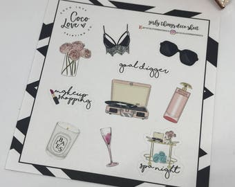 Girly Things Deco Sheet - Planner Stickers