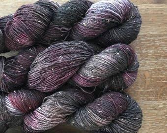 Dark Army: BFL tweed sock yarn