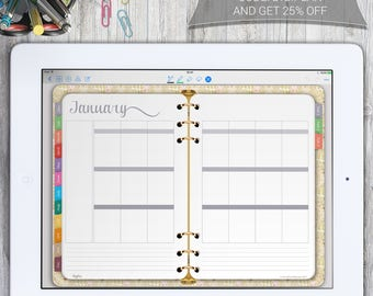 Digital Planner, GoodNotes Planner, OneNote Planner, Metamoji Planner, iPad Planner, PDF Digital Planner, Instant Download, XoDo Planner