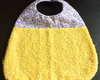 Terry and cotton baby bib