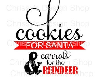 Cookies for santa svg cut file / carrots for reindeer svg / santa plate svg / reindeer plate svg / santa treats clip art / santa template