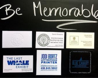 Letterpress Business/Calling Cards