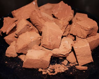 Brown clay dirt chunks from Nothing, AZ. Cleaned, crunchy, earthy and creamy clay dirt