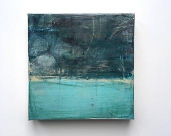 DRIFTING.. abstract art, painting, art, canvas art, contemporary art, painting, blue, small painting,wall art, malorymaki