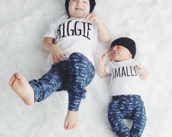 Biggie Smalls, siblings tees, pregnancy announcement, matching set, matching tees, best friend tees, baby announcement