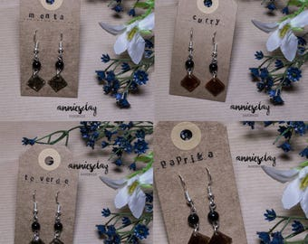 #Resinatura earrings (hanging)