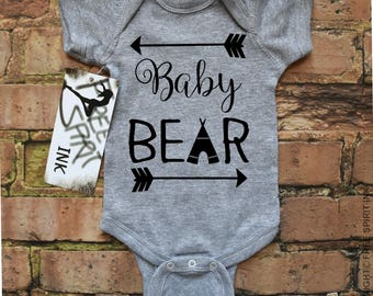 Baby Bear Bodysuit. Baby Bear Onesie. Baby Shower Gift. Baby Bear Shirt. Infant Baby Clothing. Mothers Day Gift. Mama Bear Baby Bear Shirts