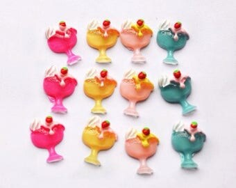3 or 5 cabochon resin ice Cream cup