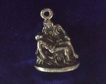 Sterling silver Christ crucified charm vintage # 144s