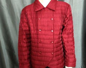 Size XL Samuel DongJacket/Designer Jacket/Quilted Rusty Red Jacket/Double Fastened Jacket/Snaps Fastened Jacket/No.431