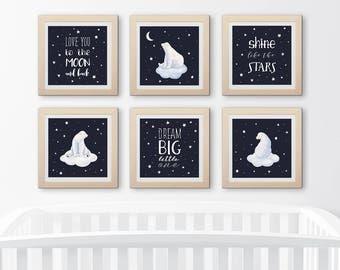 Cute bear/Dream big/Sweet dream/Nursery quote/Nursery wall art/Nursery decor/Digital print/Baby gift/Cute animal print/Christmas poster