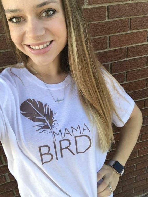 MAMA BIRD Rose Gold Ink, Mama Bird Tee, Mama Bird Tshirt, Mama Bird Shirt, Mama Bird Top, Mama Bird Tee