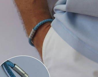 Gift for men, Bracelet, Leather bracelet, Mens bracelet, Mens Cuff, Accessories, Jewelry for him, Personalized leather bracelet,