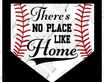 Baseball There's No Place Like Home  svg, eps, pdf, dxf, jpg, png, .studio3 - Digital Cut file for Cricut or Silhouette
