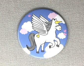 Pegasus Unicorn Pocket Mirror