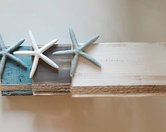 Starfish Wood Block Picture Frame