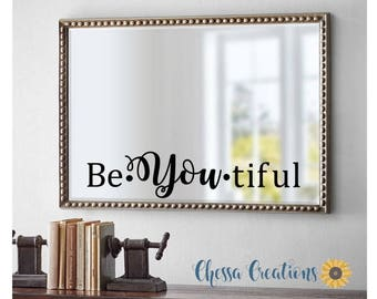 Mirror Decal Etsy
