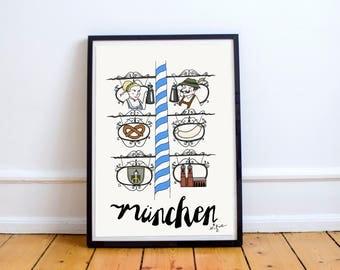 Munich poster - original artwork, posters kids