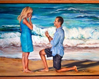 Engagement Portraits - Hand Painted