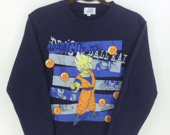 Vintage 90's Dragon Ball Kai Classic Design Skate Sweat Shirt Sweater Varsity Jacket Size M #A883