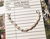 The Book Thief / Marcus Zusak / literary gift / bibliophile / librarian gift ideas / paperbeads / gifts for booklovers
