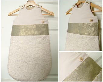 Sweet sleeping bag in pink and gold