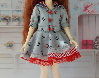 Outfit for BJD - Jacket and skirt for B.I.D./K.I.D. Iplehouse or Momocolor (26 cm/26cm)