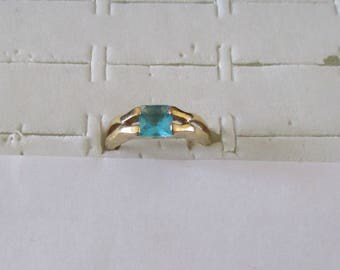 Green zirconium gold filled ring