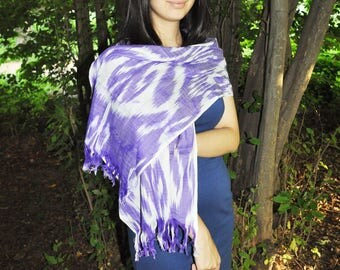 Loving silk scarf Ikat