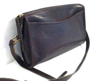 VINTAGE COACH BAG Vintage Brown Leather Coach Bag Coach Handbag Coach Shoulder Bag Coach Crossbody Bag Cross Body Bag Brass Tone Hardware