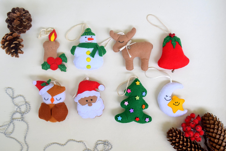 Design Felt Christmas Ornaments set of 8 christmas ornaments felt ornaments