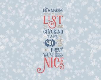 He's Making A List Christmas Countdown Svg Santa List Naughty or Nice Days til Christmas Svg Santa Christmas Svg Files silhouette cricut