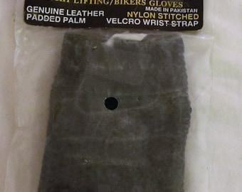 Vintage New Small Leather Mesh Fingerless Gloves