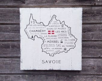 Wall Decor / Savoie / French Decor / Wood Sign / 51cm x 51cm / France