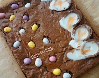 Easter Brownies- Creme Egg and Mini Egg