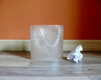 lucite trash can   etsy