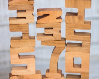 Wooden Number Game Set | Alder Wood Math Kids Toy | Addition And Subtraction Learning Material | Montessori & Waldorf Inspired Gift Set