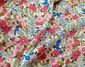 Flowers cotton poplin