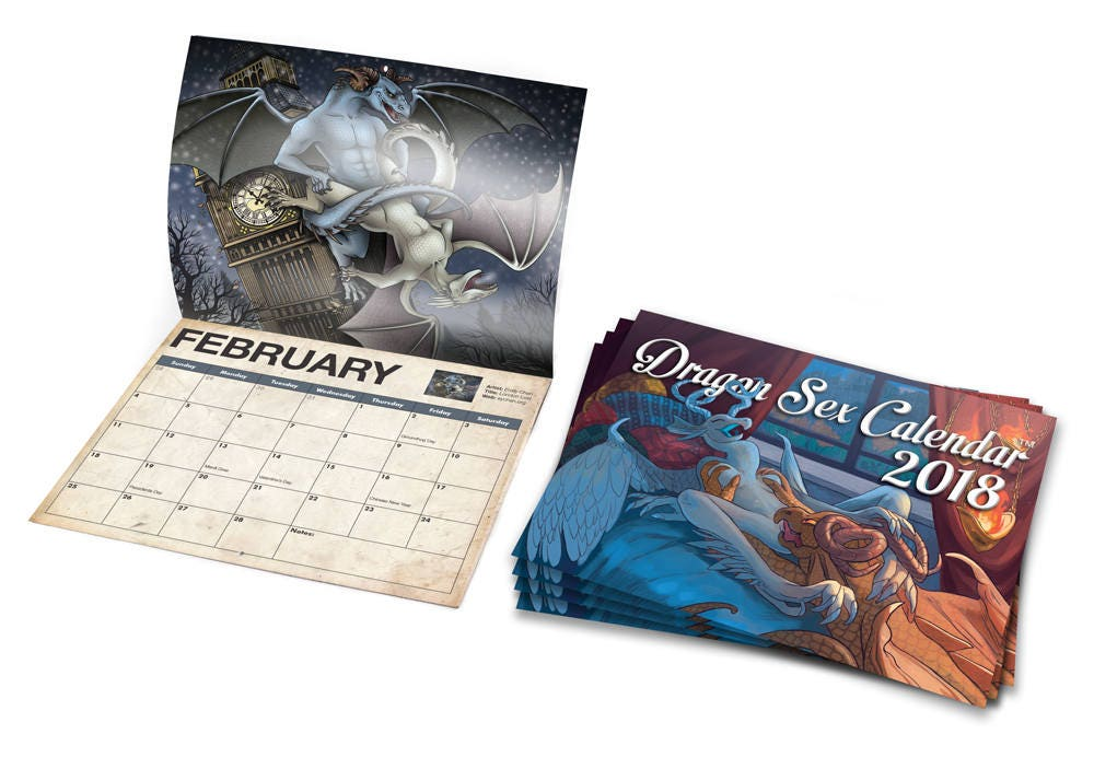 2018 Dragon Sex Calendar