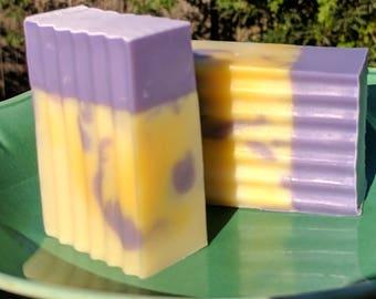 Lavender & Lemongrass Handmade Artisan Soap with Essential Oils