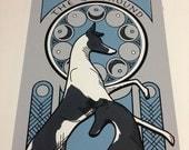Original Greyhound Serigraph