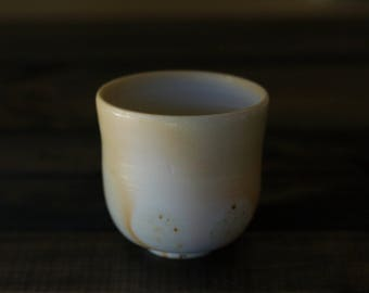 Porcelain Yunomi Cup - wood fired yunomi teacup
