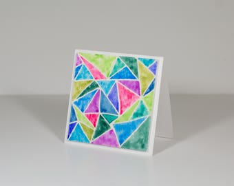 Hand Made Watercolor Cards | Greeting Cards | Blank Cards | Hand Made Stationary | 3 x 3